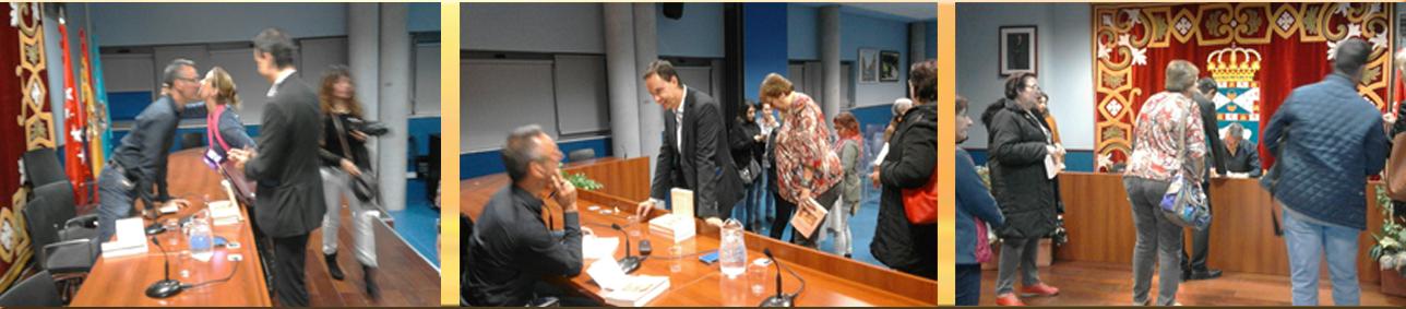 Fueron muchos los asistentes que se acercaron a saludar al escritor y a pedir la firma de un ejemplar de su obra.