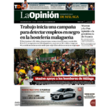 Portada del diario La opinión de Málaga. Adarve, editoriales España