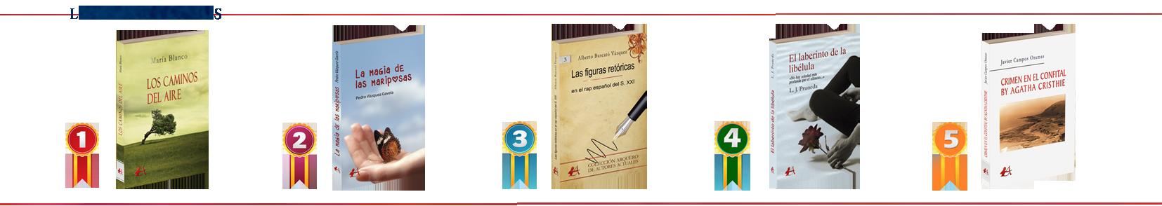Los libros más vendidos de Editorial Adarve