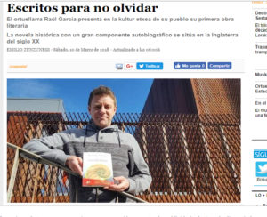 Raúl García Camacho en diario Deia de Bizkaia