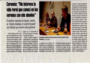 Artículo de prensa José Luis Caramés Lage El cuclillo trepador. Editoriales de España