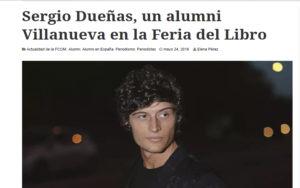 Sergio Dueñas en Cuv3 de Villanueva. Editoriales de España, Adarve