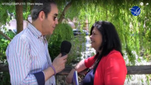 Charo Mejia en entrevista con Paco Gutierrez de Sentir TV Caceres. Editoriales de España, Adarve