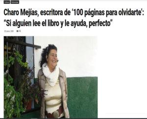 Charo Mejía en entrevista con Avepluma. Editoriales actuales de España, Adarve