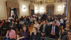 Público asistente a la presentación de Ikingut el heredero de Darkaria de Belinda Díaz. Editoriales españolas, Adarve