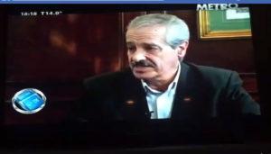 Osvaldo González, autor de Editorial Adarve, en el programa Sin exclusiones de la cadea argentina Metro. Editoriales actuales de España