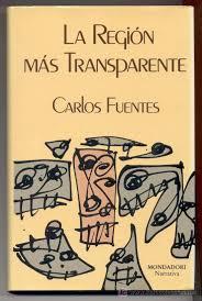 portada del libro La región más transparente de Carlos Fuentes. Editoriales españolas, Adarve