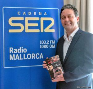 Monteagudo en radio Cadena ser Mallorca. Editorial Adarve