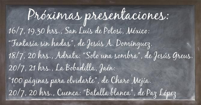 Pizarra de presentaciones. Editorial Adarve de España