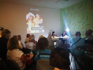 Durante la presentación de Batalla blanca en librería Toro Ibérico de Cuenca. Editorial Adarve