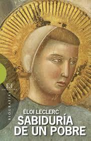 Portada del libro Sabiduría de un pobre de Eloi Leclerc. Editoriales actuales de España, Adarve
