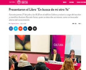 Nota periodística En busca de mi otro yo. Editoriales de España, Adarve