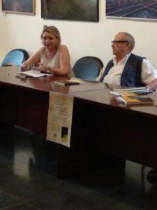 Pilar Lozano junto a Fernando Charro. Editorial Adarve