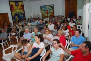 Público asistente a la presentación de la novela David sueños de un rey. Editoriales actuales de España, Editorial Adarve