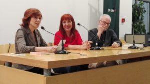 Marijo hurtado durante la presentación de su novela Nunca fuimos inocentes. Editoriales actuales de España, Editorial Adarve