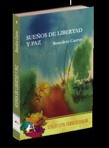 Portada del libro de poesía Sueños de libertad y paz. Editorial Adarve, Poesía y color, Editoriales de España