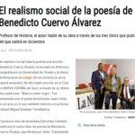 Benedicto Cuervo en Diario La Nueva España. Verso y Color, Editorial Adarve, Editoriales españolas