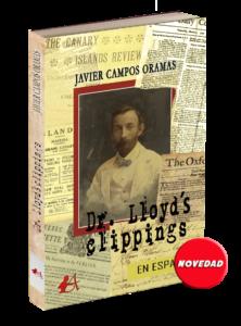 Portada del libro Dr lloyds clippings de Javier Campos Oramas. Editorial Adarve de España, Editoriales de España