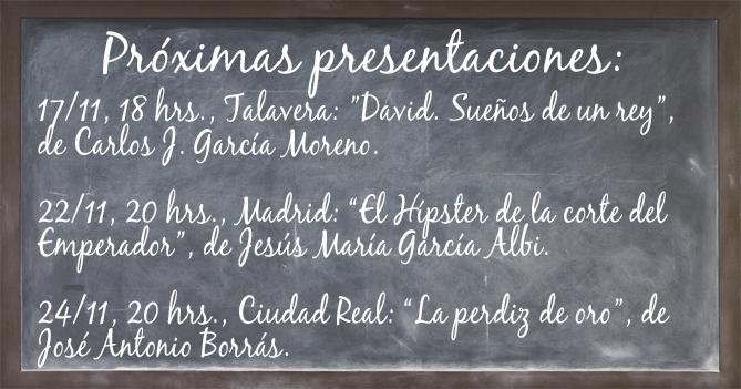 Pizarra de presentaciones noviembre 2018. Editorial Adarve de España, Editoriales españolas
