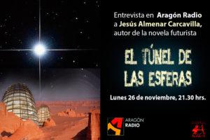 Cartel entrevista a Jesús Almenar Carcavilla autor de El túnel de las Esferas. Editorial Adarve, Editoriales españolas, Editoriales de España