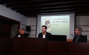 Presentación del libro Dr lloyds clippings de Javier Campos Oramas. Editoriales de España, Editorial Adarve, Editorial Adarve de España, Editoriales actuales