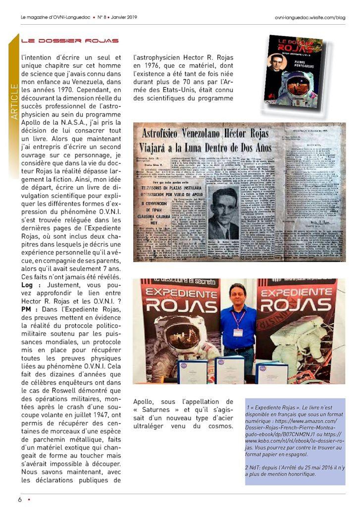 Expediente Rojas de Pierre Monteagudo - entrevista en revista francesa. Editorial Adarve, Editorial Adarve de España, Editoriales de España, Editoriales actuales de España, Editoriales españolas, Editoriales españolas actuales