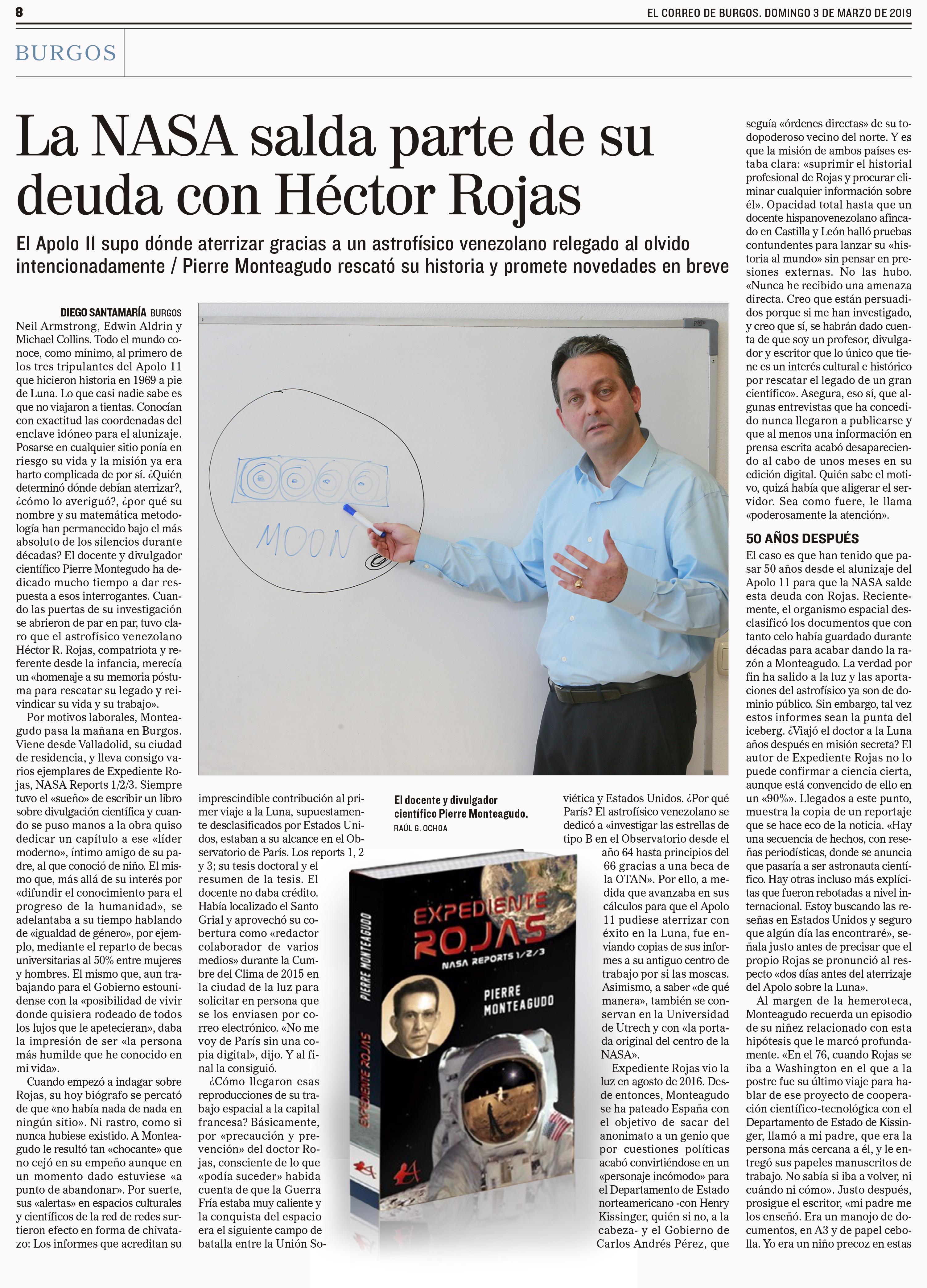 Artículo periodístico Expediente Rojas. Editorial Adarve, Editoriales de España