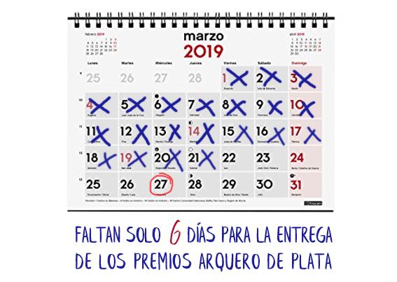 Calendario entrega de I Premio Arquero de Plata Editorial Adarve