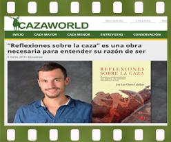 Reflexiones sobre la caza de José Luis Charro en CazaWorld. Editorial Adarve, Publicar un manuscrito