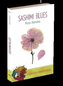 Portada del libro Sashimi blues de Marta Almañac. Editorial Adarve, Colección Verso y Color