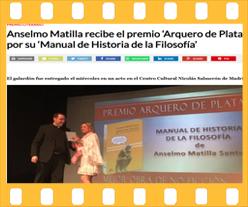 Reseña Anselmo Matilla Santos en Salamanca RTV. Editorial Adarve, Editoriales que aceptan manuscritos