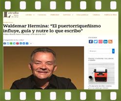 Waldemar Hermina autor de Muchos años de espera concede entrevista a letralia revista literaria. Editorial Adarve, Editoriales actuales de España