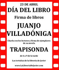 Anuncio charla Juanjo Villadóniga. Editorial Adarve, Editoriales españolas actuales