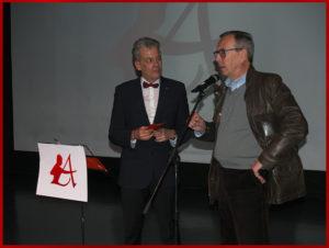 El editor Luis Folgado con el escritor Francisco Núñez