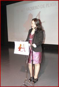 Rosalía de Santos en la entrega de los Premios Arquero de Platra 2019