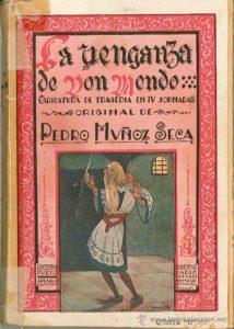 Portada del libro La venganza de Don Mendo. Editorial Adarve, Editoriales que aceptan manuscritos