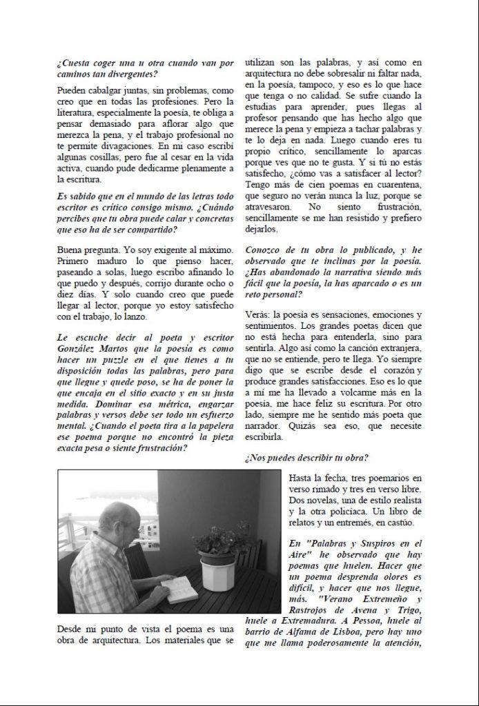 Entrevista José García Plata Palabras y suspiros en el aire. Editorial Adarve, Colección verso y color