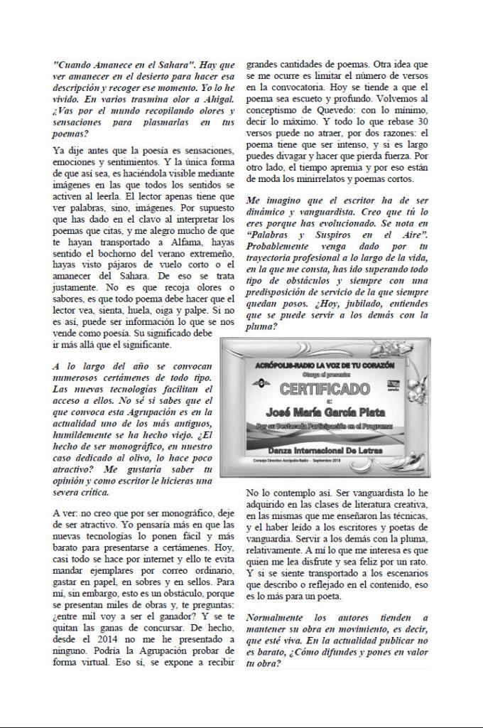 Entrevista García Plata Palabras y suspiros en el aire. Editorial Adarve, Editoriales que aceptan manuscritos