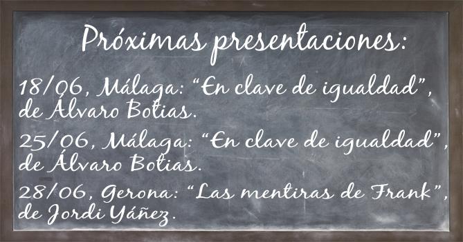 Pizarra de presentaciones Adarve Junio. Editorial Adarve, Editoriales de España