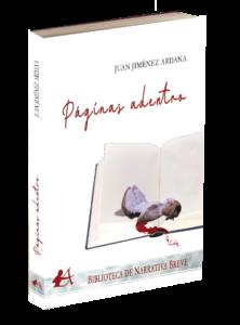 Portada del libro Páginas adentro de Juan Jiménez Ardana. Editorial Adarve, Editoriales que aceptan manuscritos