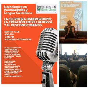 Anuncio evento Duván Vargas. Editorial Adarve, Editoriales de España
