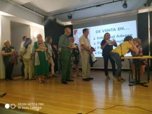 Autores de Adarve en presentación de Tío Galo de Carmen Muñoz. Editorial Adarve, Editoriales de España