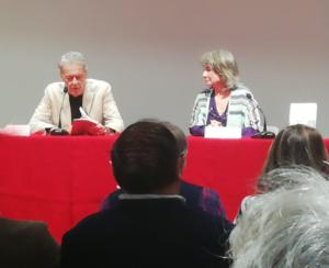 Bertha Balestra presenta El cuervo y el halcón con Luis Folgado de Torres. Editorial Adarve, Editoriales de España