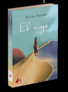 Portada del libro El viaje de Alicia Paredes. Editorial Adarve, Editoriales actuales de España
