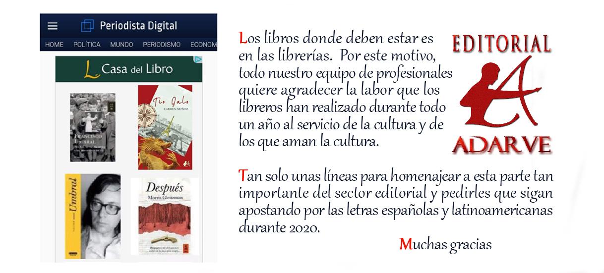 Libro Adarve en El Corte Inglés. Editorial Adarve, Editoriales que aceptan manuscritos