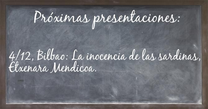Pizarra de presentaciones diciembre. Editorial Adarve