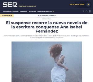 Ana Isabel Fernández En Cadena Ser. Editorial Adarve, En sus ojos habitaba el miedo