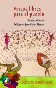 Portada del libro Versos libres para el pueblo de Benedicto Cuervo. Editorial Adarve, Editoriales que aceptan manuscritos