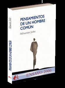 Portada del libro Pensamientos de un hombre común de Sebastian Jofré. Editorial Adarve, Editoriales de España