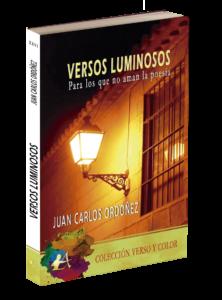 Portada del libro Versos luminosos de Juan Carlos Ordóñez. Editorial Adarve, Editoriales de España